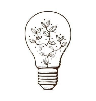 Light bulb with leaves within vector image on VectorStock.jpg